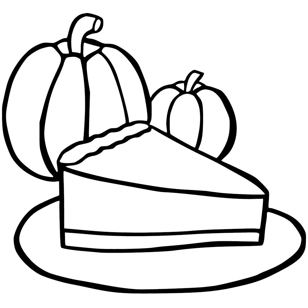 Coloriage de tarte à la citrouille