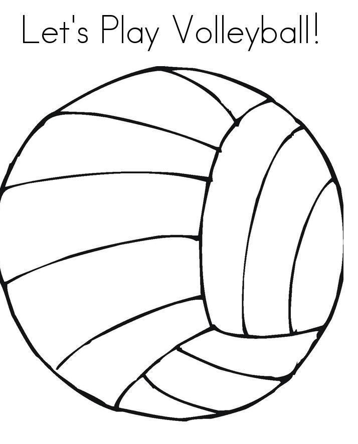 Coloriages gratuits de volleyball