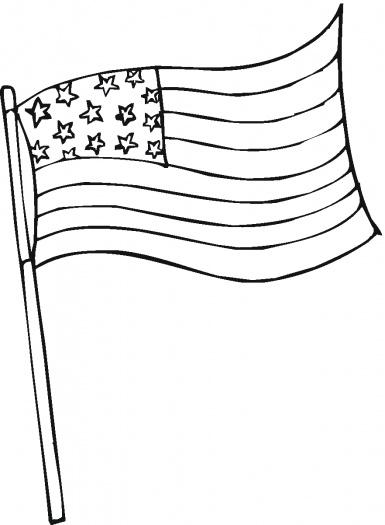 Coloriage drapeau américain à imprimer