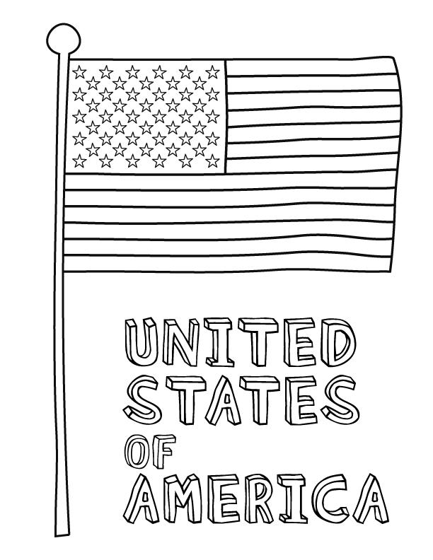 Coloriage drapeau américain - USA
