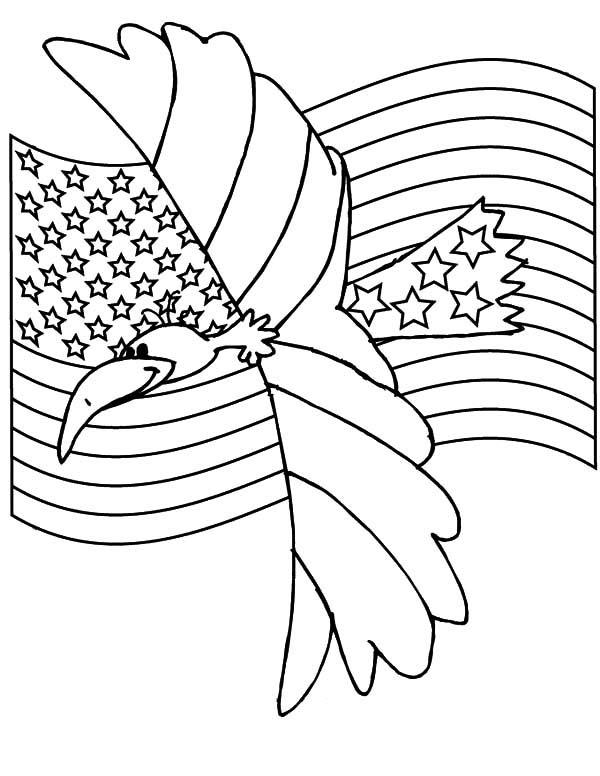 Coloriage du jour du drapeau de l'aigle