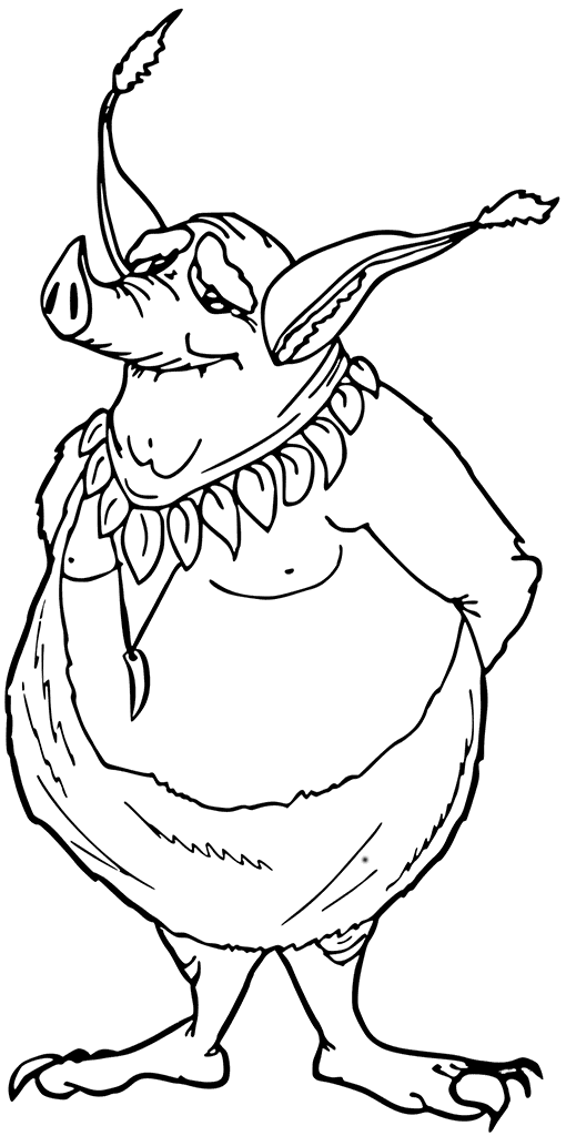 Coloriage cochon gobelin
