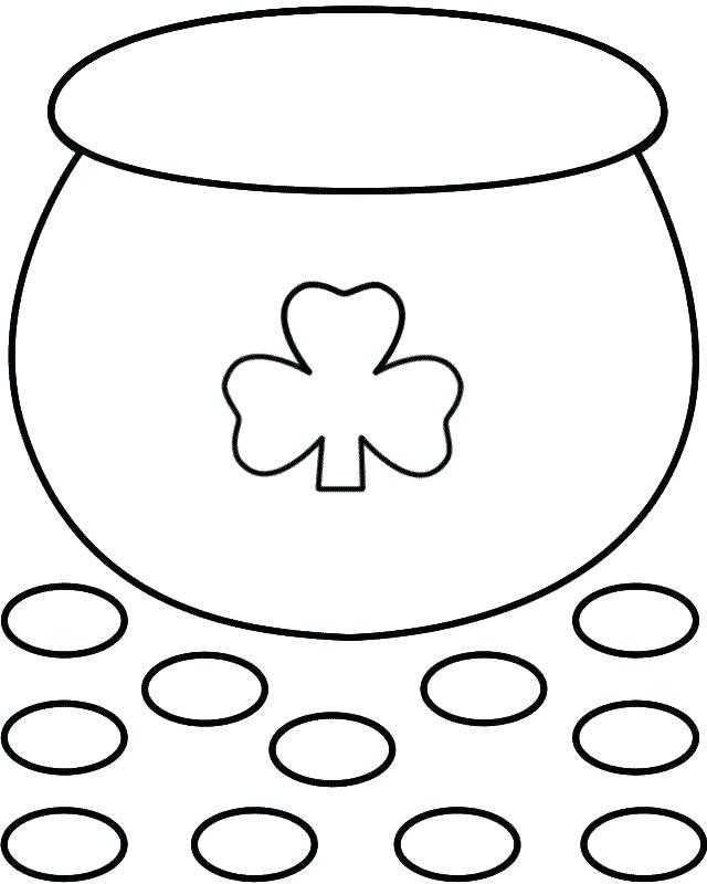 Coloriage pot d'or à imprimer