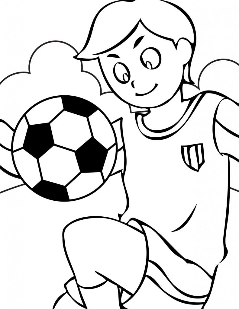Coloriages d'enfants jouant au sport