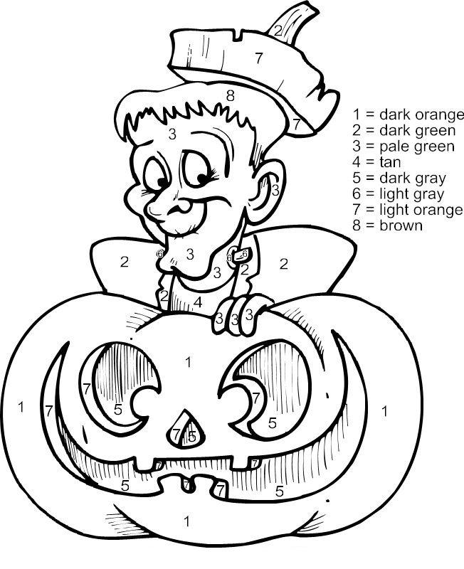 Couleur d'Halloween par numéro