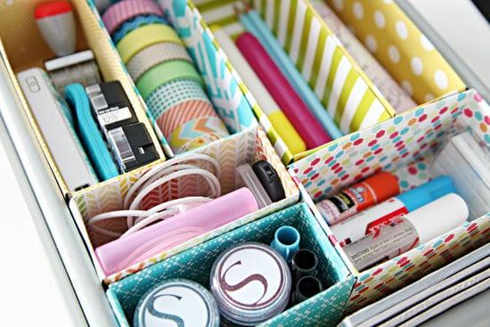Créez des séparateurs de tiroir à partir de boîtes recyclées