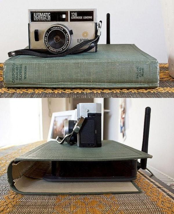 Dissimulez votre box internet dans la couverture d'un livre