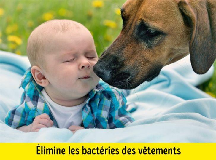 Éliminer les bactéries des vêtements des enfants