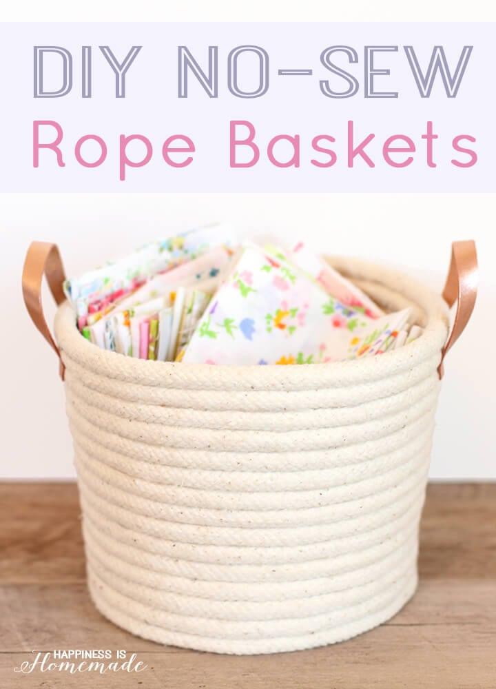 Fabriquez un panier de corde sans avoir besoin de coudre
