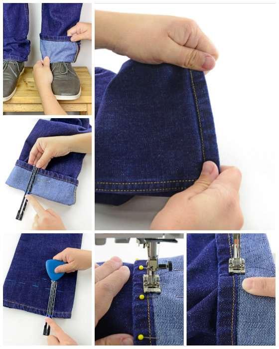 Faire un ourlet de jean à l'identique