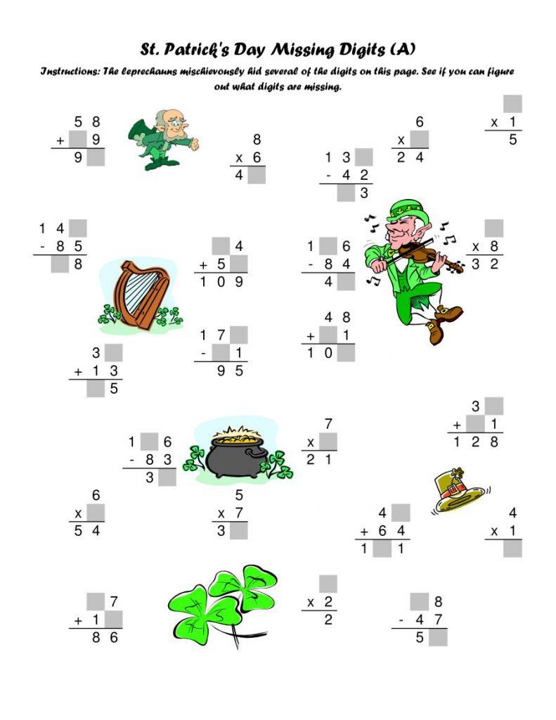 Feuille de calcul gratuite de la Saint-Patrick