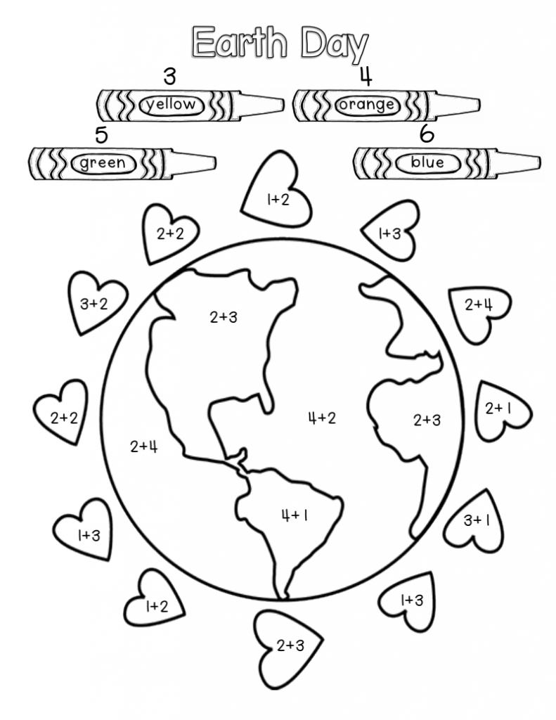 Couleur par nombre Mathématiques Jour de la Terre