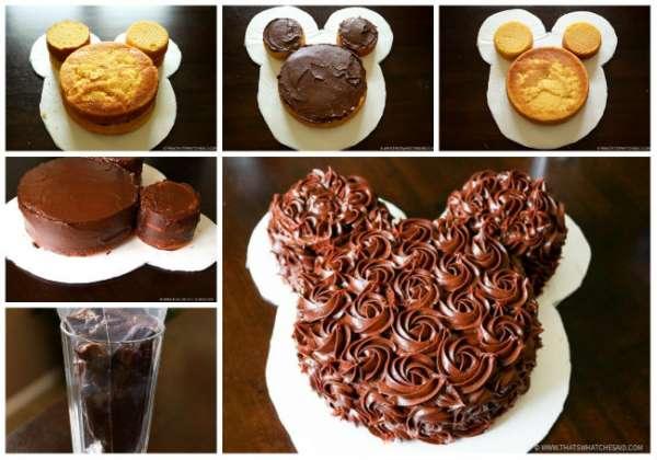 Gâteau Mickey hyper simple