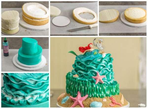 Gâteau rocher de la Petite Sirène