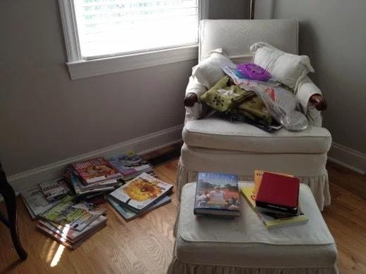 Jour 4 : Rangez les livres, magazines et jouets