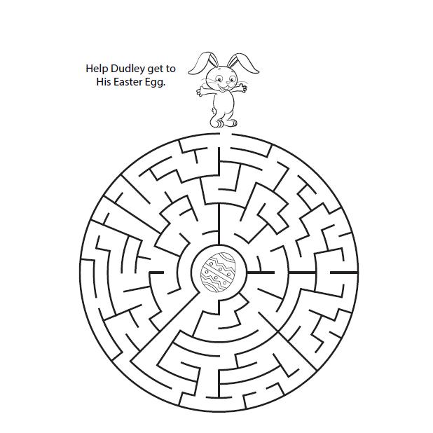 Labyrinthes de Pâques faciles