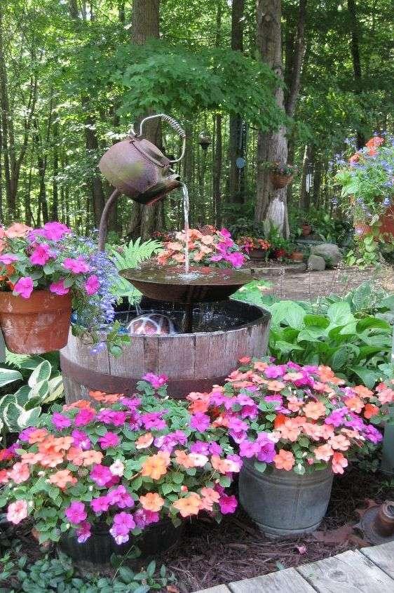 Magnifique fontaine à théière