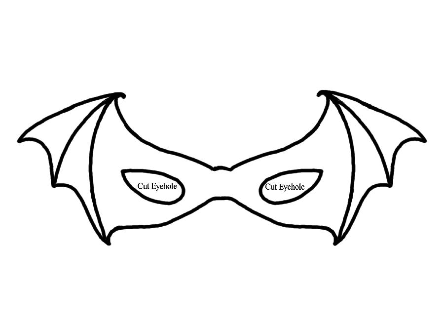 Masque de chauve-souris imprimable pour Halloween