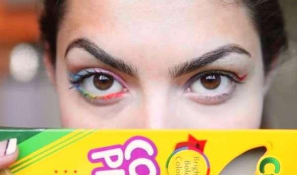 N'utilisez pas de crayons de couleurs sur vos yeux en guise d'eye-liner