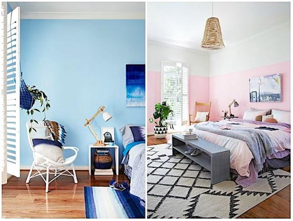 Peignez votre mur avec deux couleurs différentes