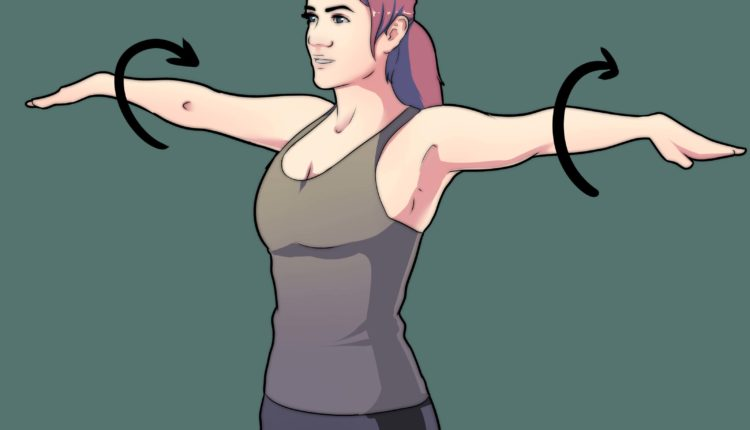 Pendant 30 secondes, faites des cercles avec les bras