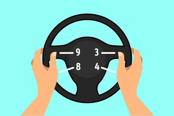 Position des mains sur le volant