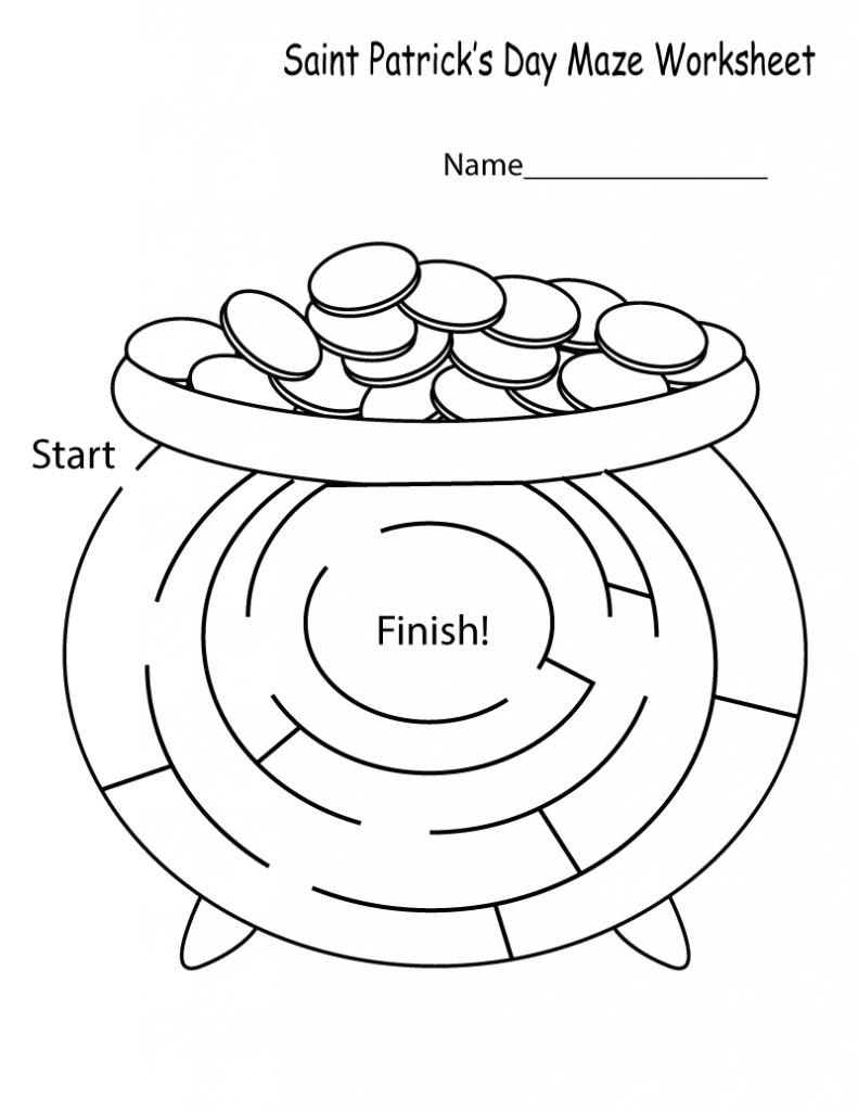 Puzzle labyrinthe facile de la Saint-Patrick
