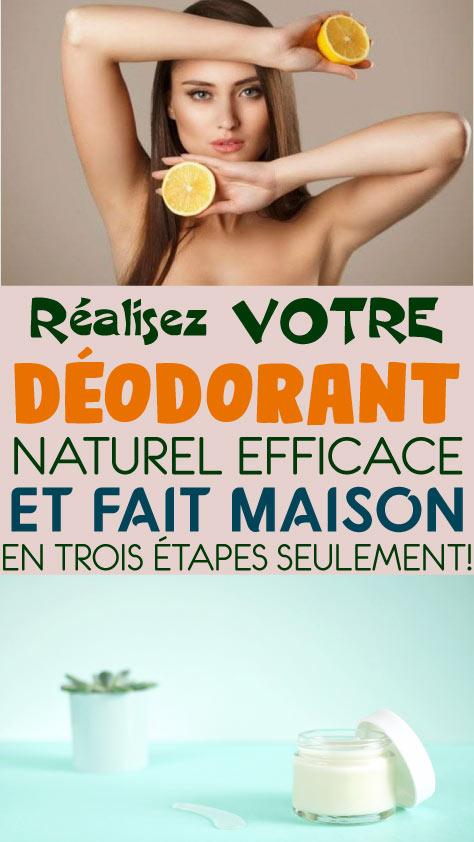 Réalisez votre déodorant naturel, efficace et fait maison en trois étapes seulement!