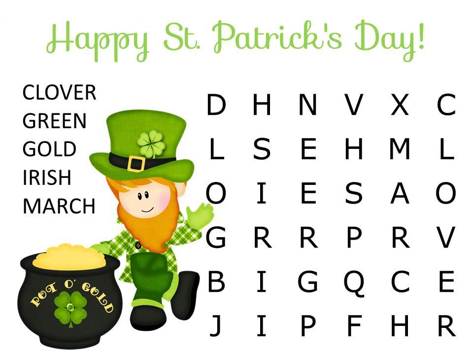 Recherche de mots facile pour la Saint-Patrick
