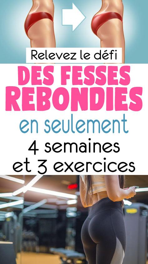 Relevez le défi : Des fesses rebondies en seulement 4 semaines et 3 exercices