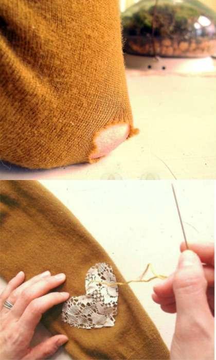 Réparer un trou dans un pull