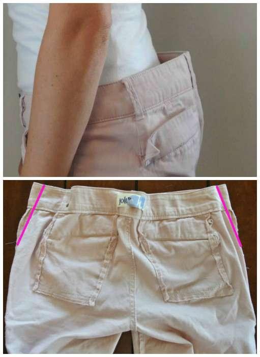 Retoucher un jean avec une taille trop grande