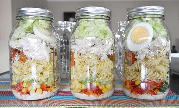 Salade de pâtes à emporter
