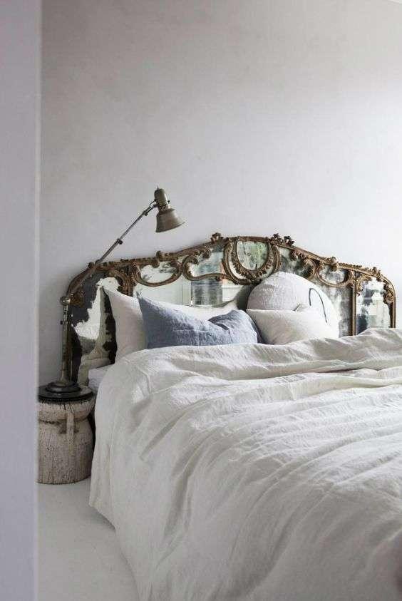 Tête de lit baroque en miroir