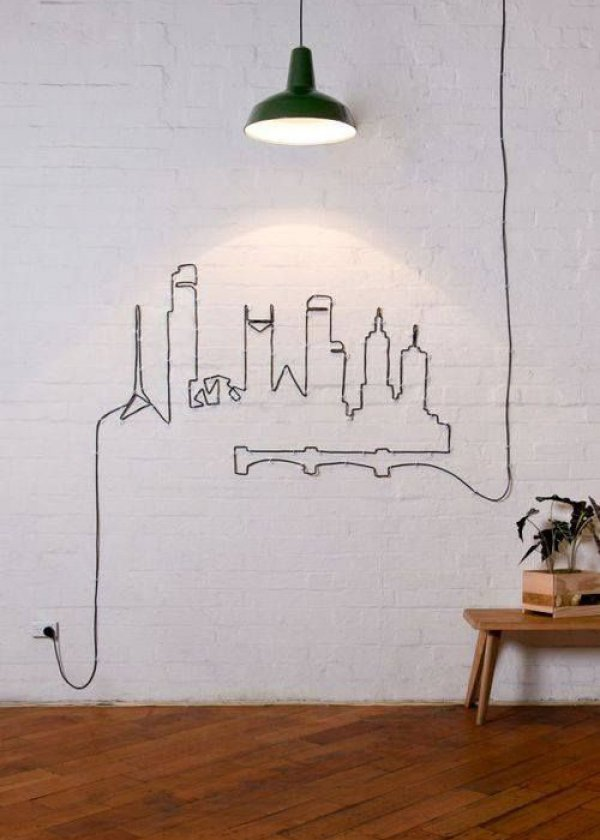 Transformez et décorez vos murs avec vos câbles électriques