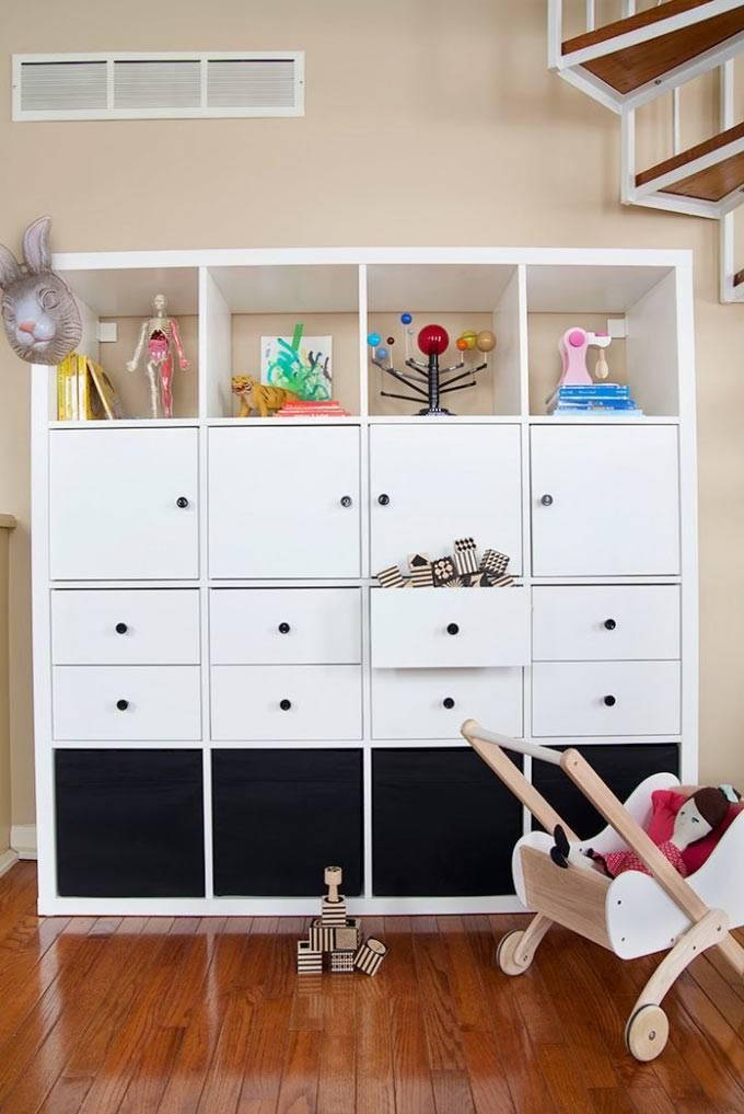 Un meuble à jouets