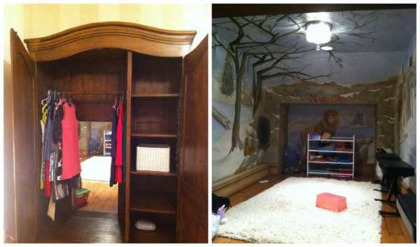 Une salle de jeux sous le thème du monde de Narnia