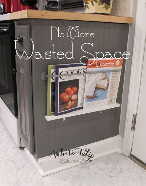 Utilisez l'espace disponible pour faire un rangement pour vos magazines de cuisine