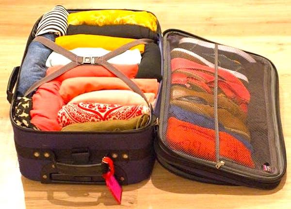 Utilisez votre valise vide pour ranger les vêtements d'été ou d'hiver