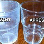 astuce secrète pour enlever le voile blanc sur les verres