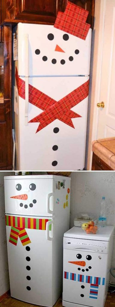 frigidaire-decorer-bonhomme-neige-cuisine