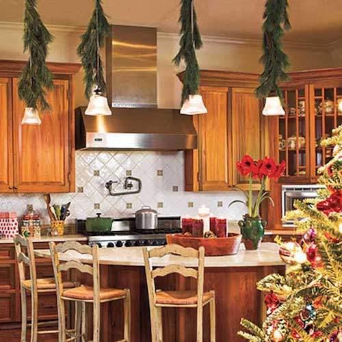 guirlandes-vertes-dans-cuisine-sur-lampes