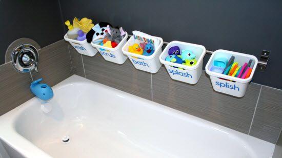 ranger les jeux de bain pour enfants