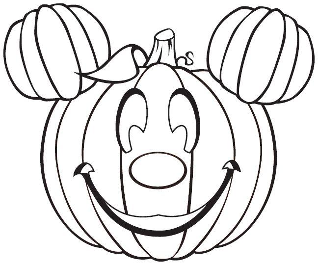Coloriage Micky Mouse Jackolantern