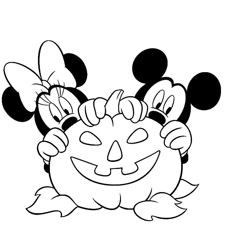 Coloriage Mickey et Minnie à imprimer
