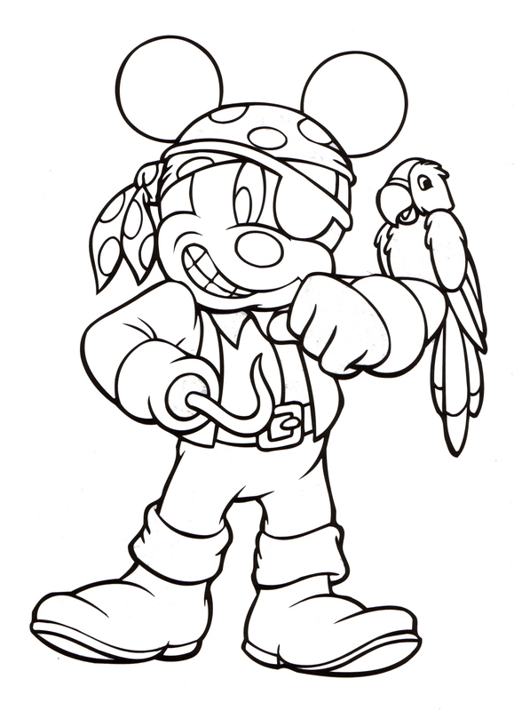 Coloriage Halloween Mickey Mouse
