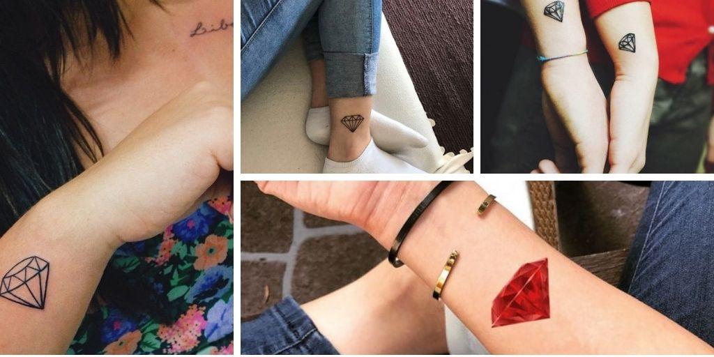 20 Meilleures images de tatouages diamant étincelant pour s'inspirer