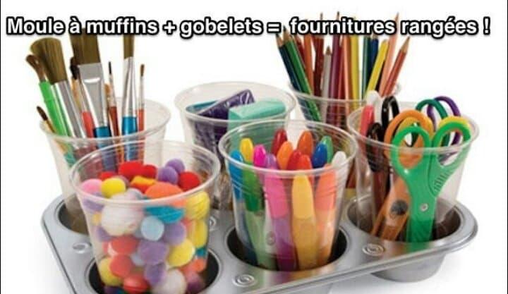 Astuce pour ranger les fournitures scolaires de vos enfants