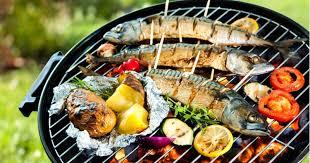 Poisson grillé au barbecue