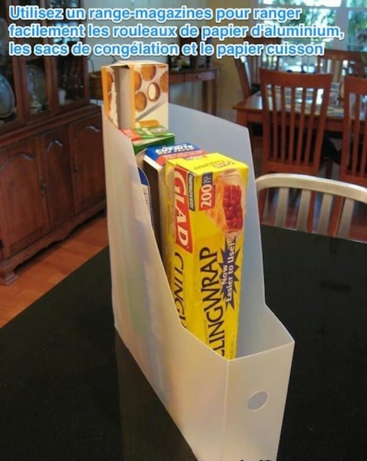 Rangement pour vos rouleaux de papier cuisine